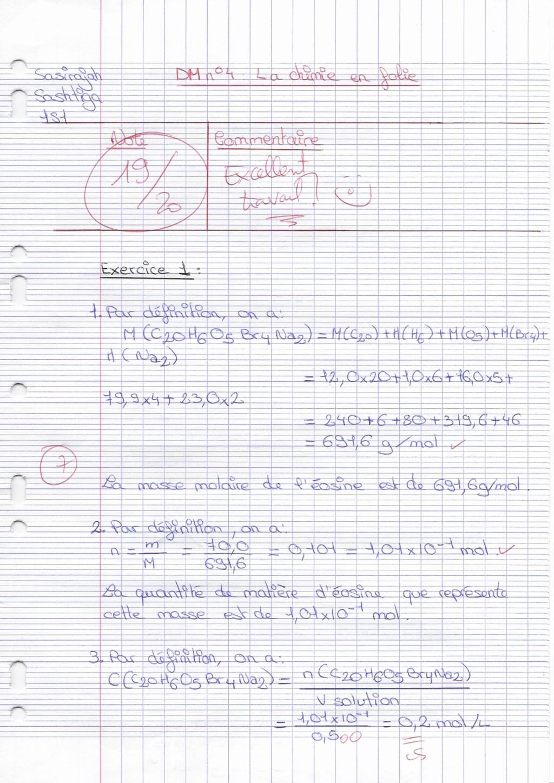 Corrigé du DM de chimie Docfil11
