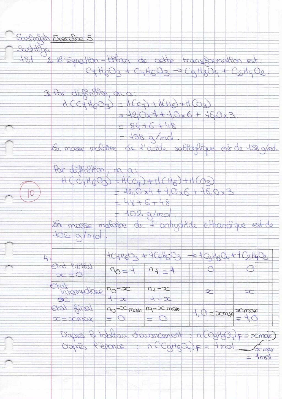 Corrigé du DM de chimie Docfil16