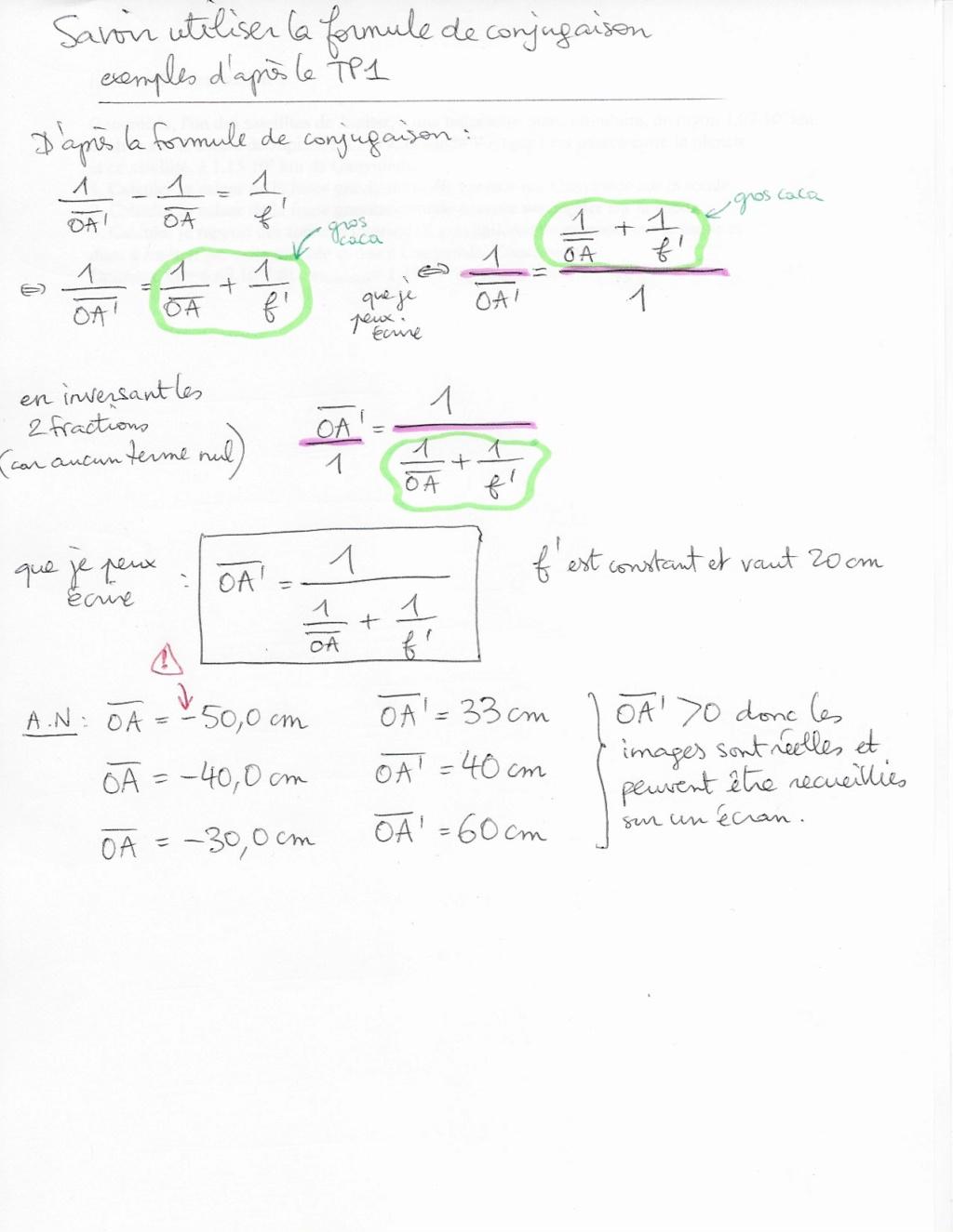 Application : Formule de conjugaison Dzomo310