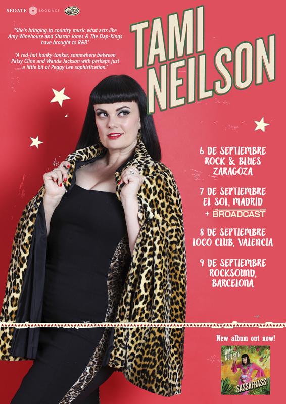 TAMI NEILSON. The hot rockin lady of country, rockabilly & soul. Nuevo disco CHICKABOOM y gira en marzo. Tami_n10