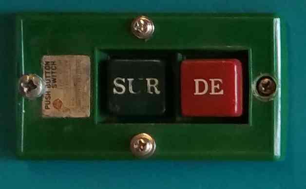 """Signification inscription interrupteur """"SUR / DE"""" Inter10"""