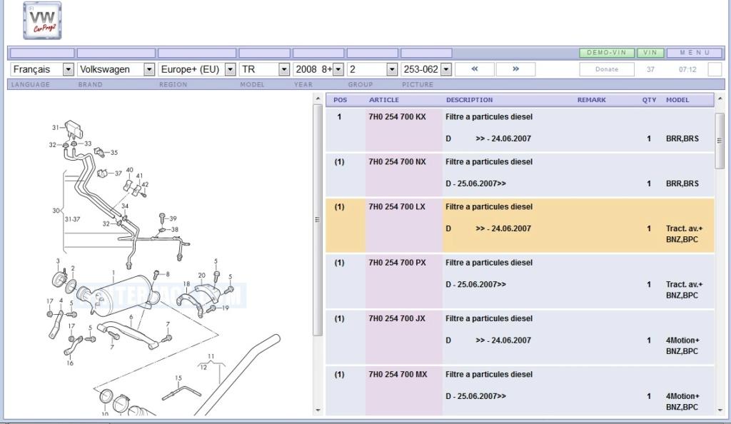 Vds FAP pour moteur BNZ-BPC Caract10