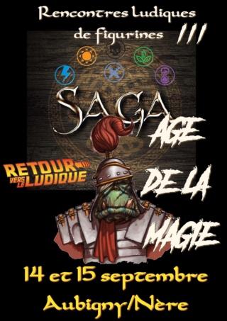 IIIième Rencontres  SAGA Age de la Magie Samedi 14 septembre à Aubigny/Nère dans le Cher Affich11