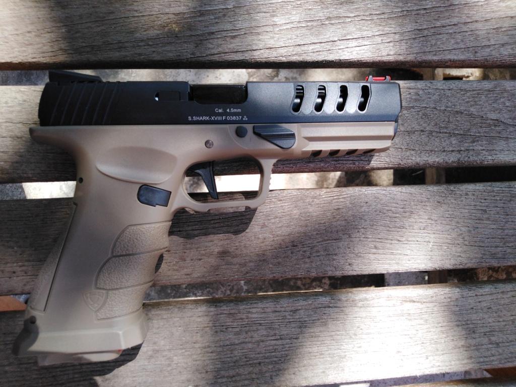 Réplique de pistolet avec red dot intégré sur la culasse.. Img_2090
