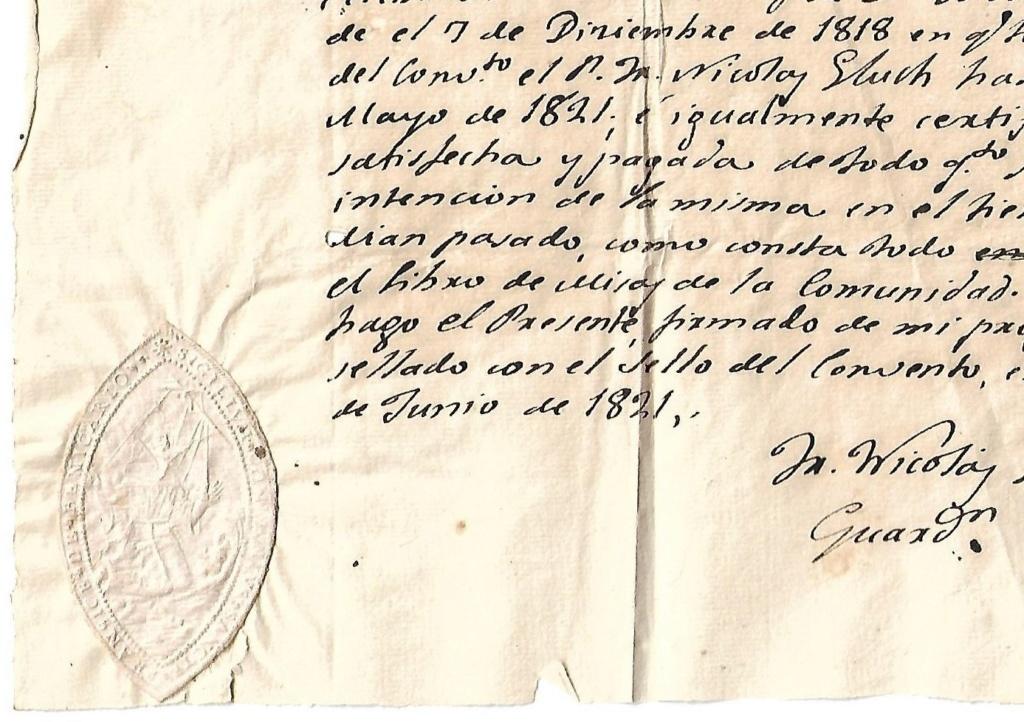 SIGILLUM CONVENTO S. FRANCISCO  1_cert11