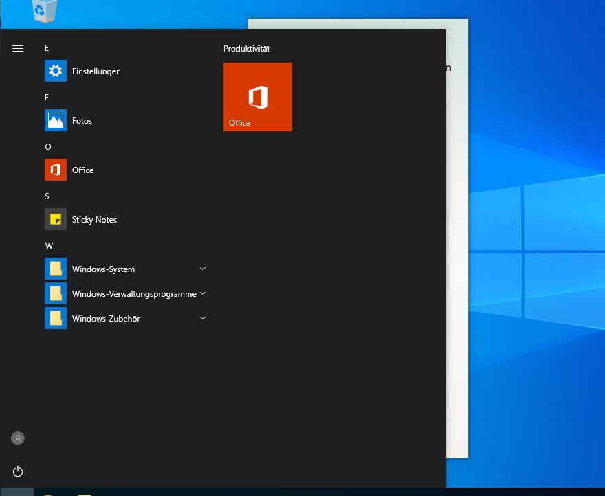 [EX-100 - v2.2.7.0] [RS6 Build 18362.388] office left on start menu Unbena14