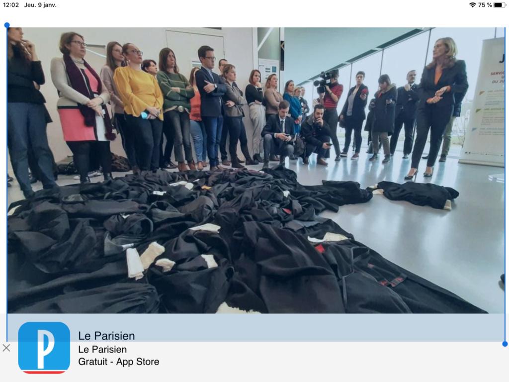 A Caen, des avocats jettent leur robe avant les vœux de la ministre de la Justice (VIDEO)  En savoir 17012310