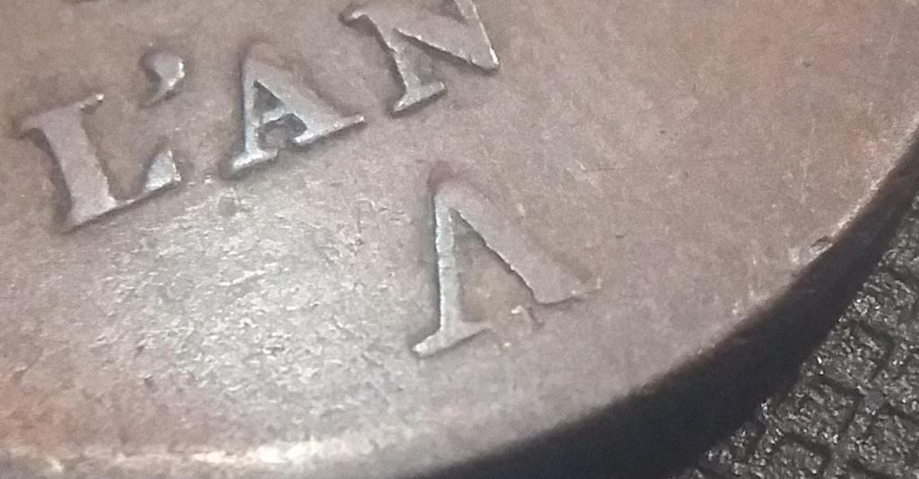 5 Centimes An 4 A Petit module Variété V inversé ! Répertorié ?? 20200411