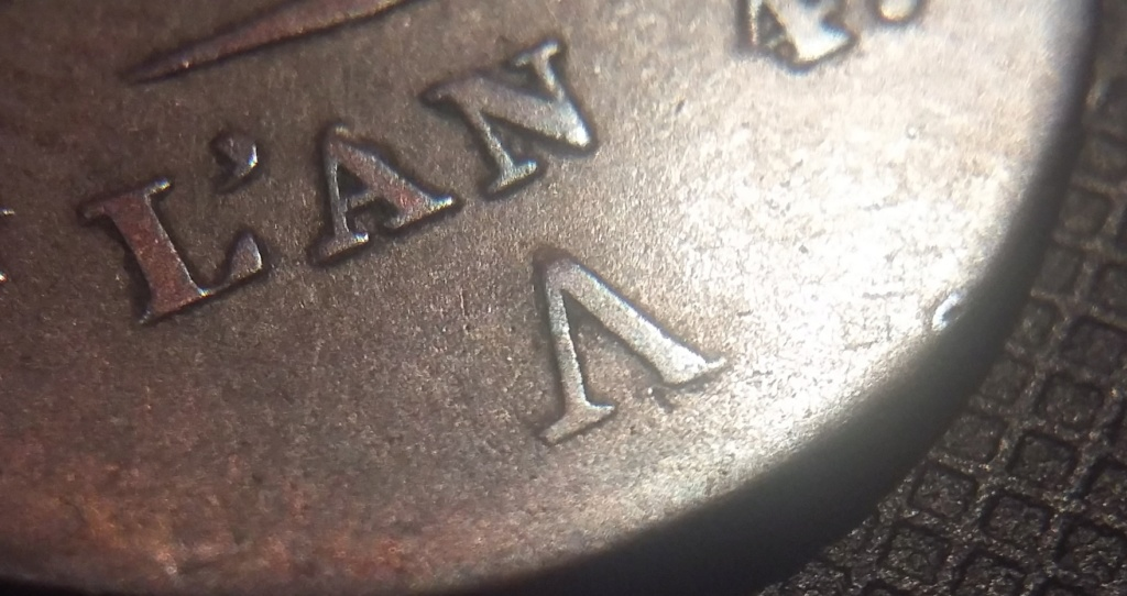 5 Centimes An 4 A Petit module Variété V inversé ! Répertorié ?? 20200417