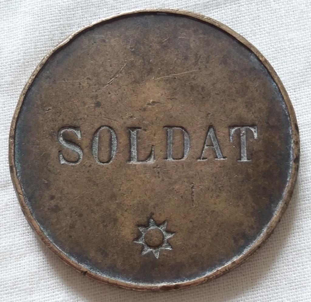 Monnaie/médaille ? SOLDAT POMPIER DE FL. & Cie AUX BAQUETS - A identifier !! 20210611