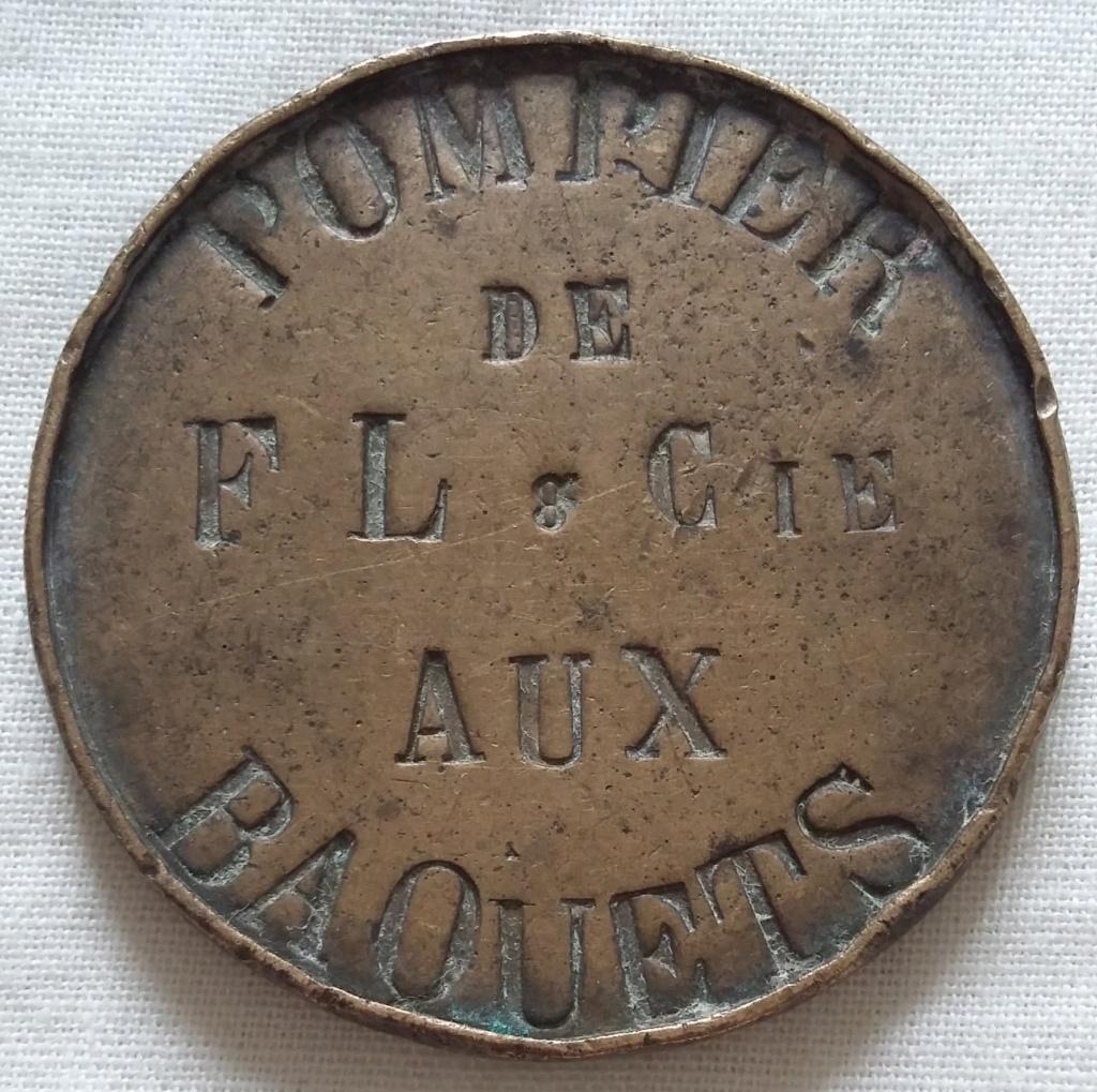 Monnaie/médaille ? SOLDAT POMPIER DE FL. & Cie AUX BAQUETS - A identifier !! 20210612