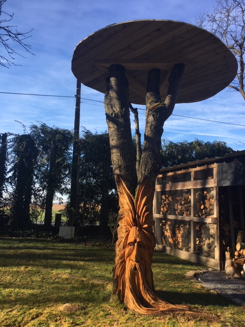sculpture à la tronçonneuse dans un cerisier Image110