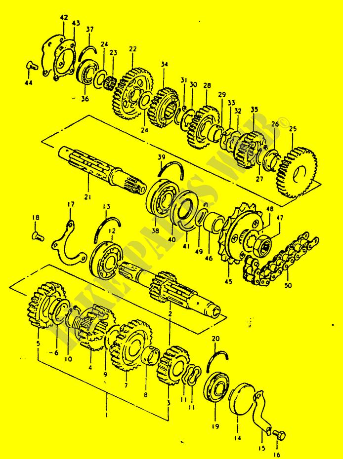 """GSX1100 version """"course de rue"""" - Page 8 Transm10"""