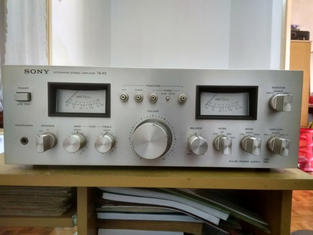 Miscellanous Items: Sony TA-F5 Integrated Amplifier(USED), Nakamichi Tape Head(USED), Arrow Hart Receptacle(NOS) Img_2032