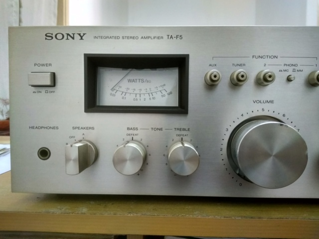 Miscellanous Items: Sony TA-F5 Integrated Amplifier(USED), Nakamichi Tape Head(USED), Arrow Hart Receptacle(NOS) Img_2033