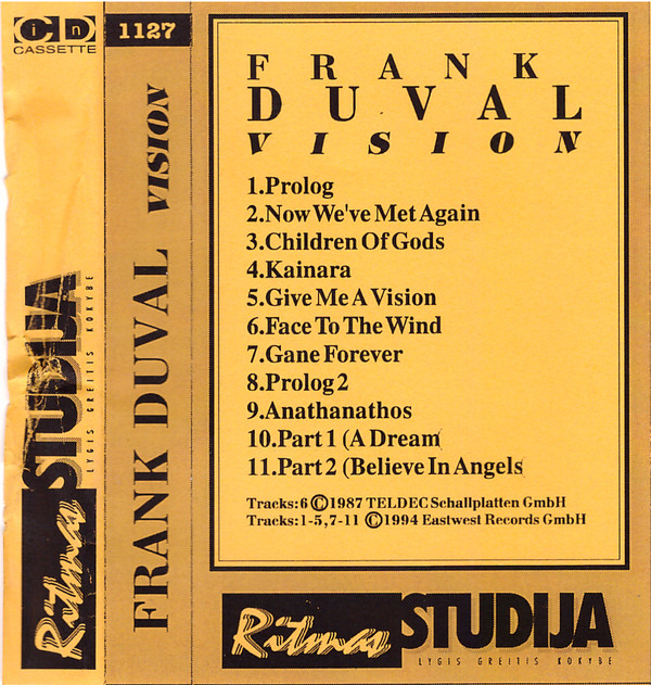 Альбомы Франка Дюваля на аудиокассетах Vision10