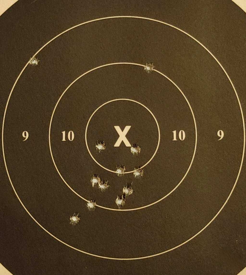 SPF: 1911 .45ACP Wadgun by George Carell + .22 Advantage Arms Conversion - Complete Bullseye Package  50yds_13