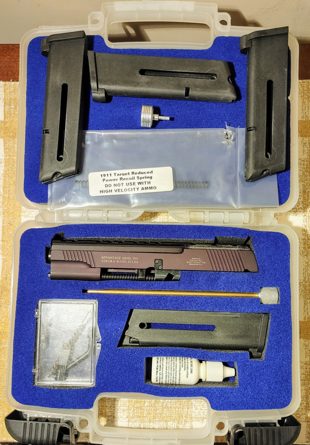 SPF: 1911 .45ACP Wadgun by George Carell + .22 Advantage Arms Conversion - Complete Bullseye Package  Advant10
