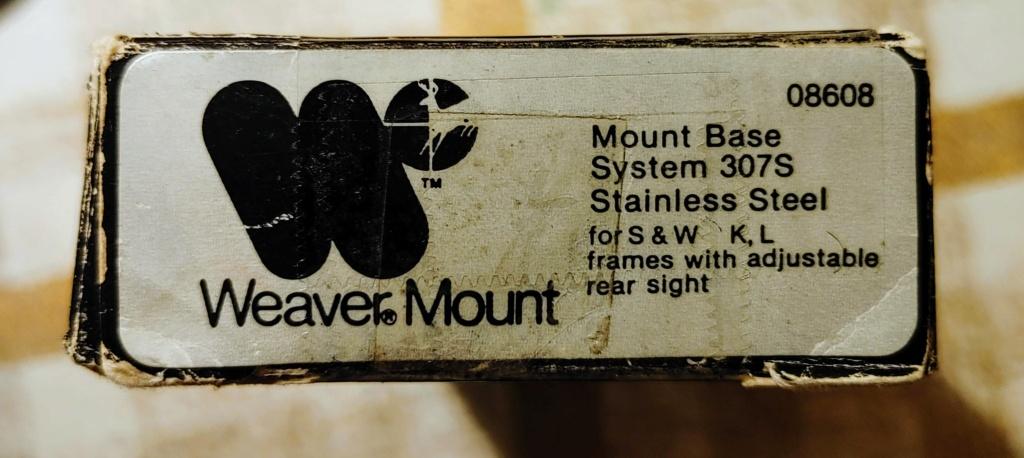 SOLD: Weaver Scope Mount #307s for S&W K/L Revolvers - LNIB Weaver10