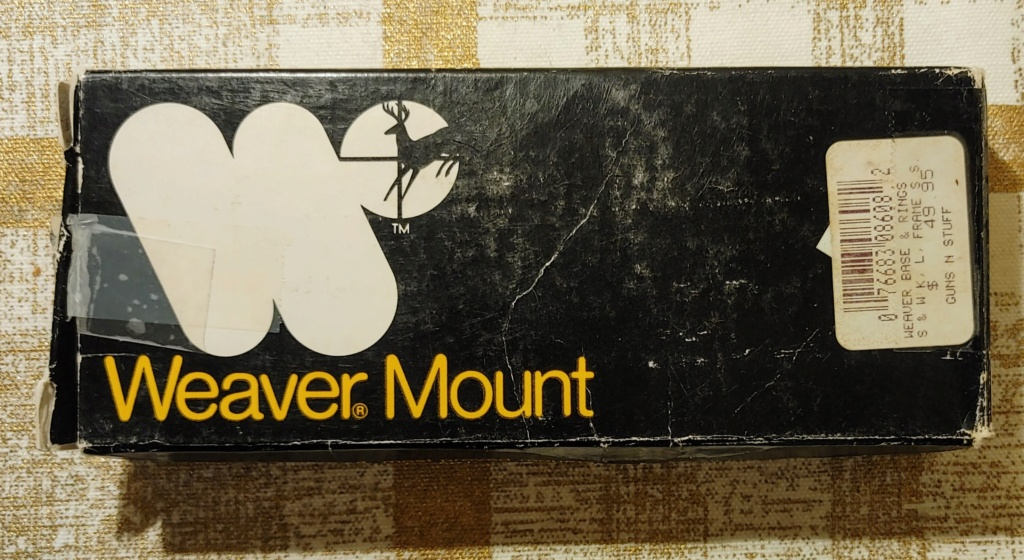 SOLD: Weaver Scope Mount #307s for S&W K/L Revolvers - LNIB Weaver11