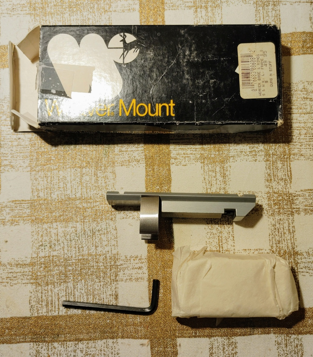 SOLD: Weaver Scope Mount #307s for S&W K/L Revolvers - LNIB Weaver14
