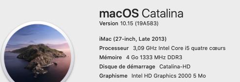 [résolu]probléme Intel® HD Graphics 2000 sur catalina 1110