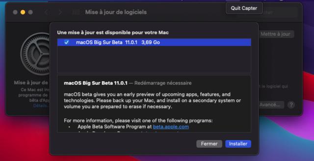 [résolu]mise à jour BigSur 11.0.1 Captur32