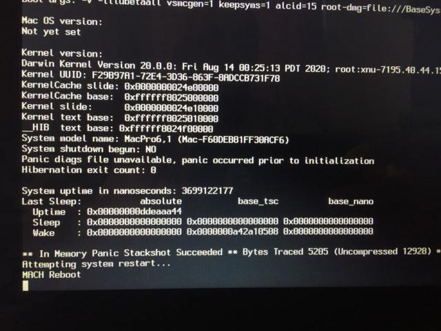 Problème au début de l'installation Big Sur  sur mon HP Img_0010