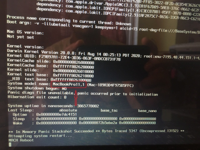 Problème au début de l'installation Big Sur  sur mon HP Img_0011
