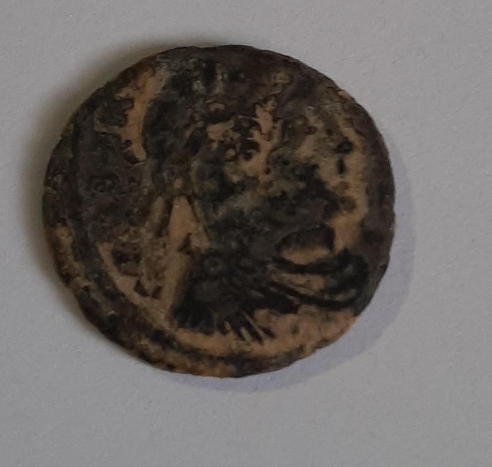 AE4 de Constantino I. GLORIA EXERCITVS. Lyon Ab_tif11