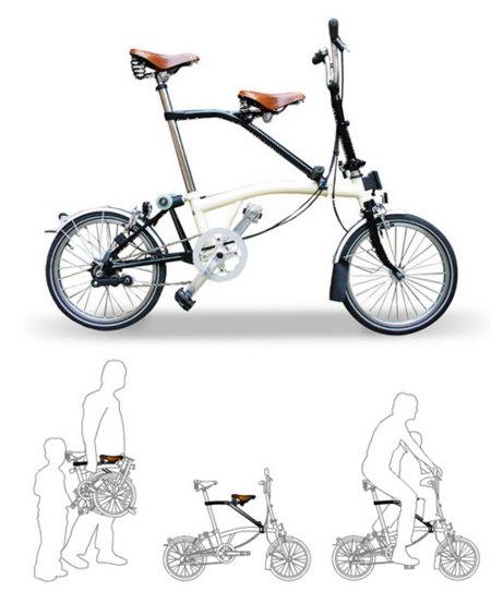Bicicleta plegable que pueda llevar silla de niño 450_1010