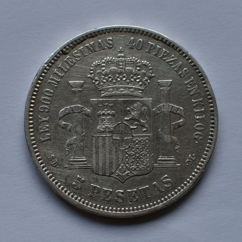 5 PESETAS 1871 – AMADEO I SD-M 1871re10