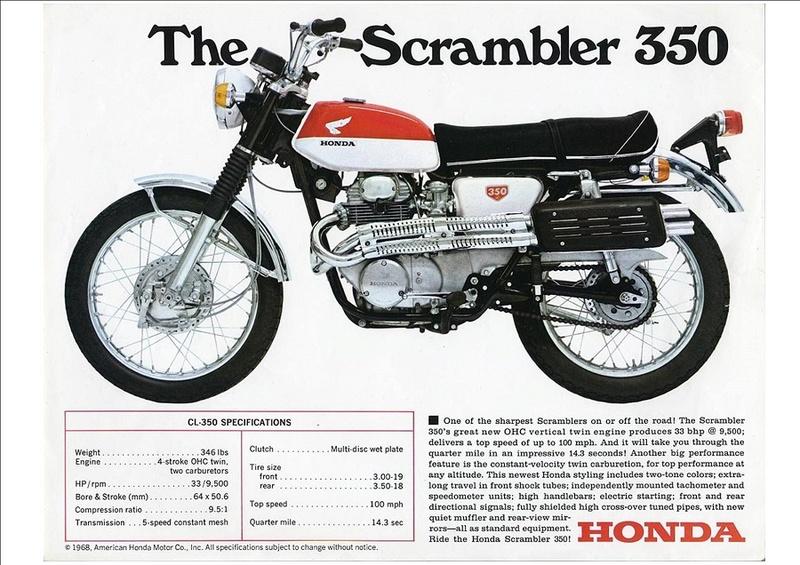 Honda Scrambler 350 Cl161010