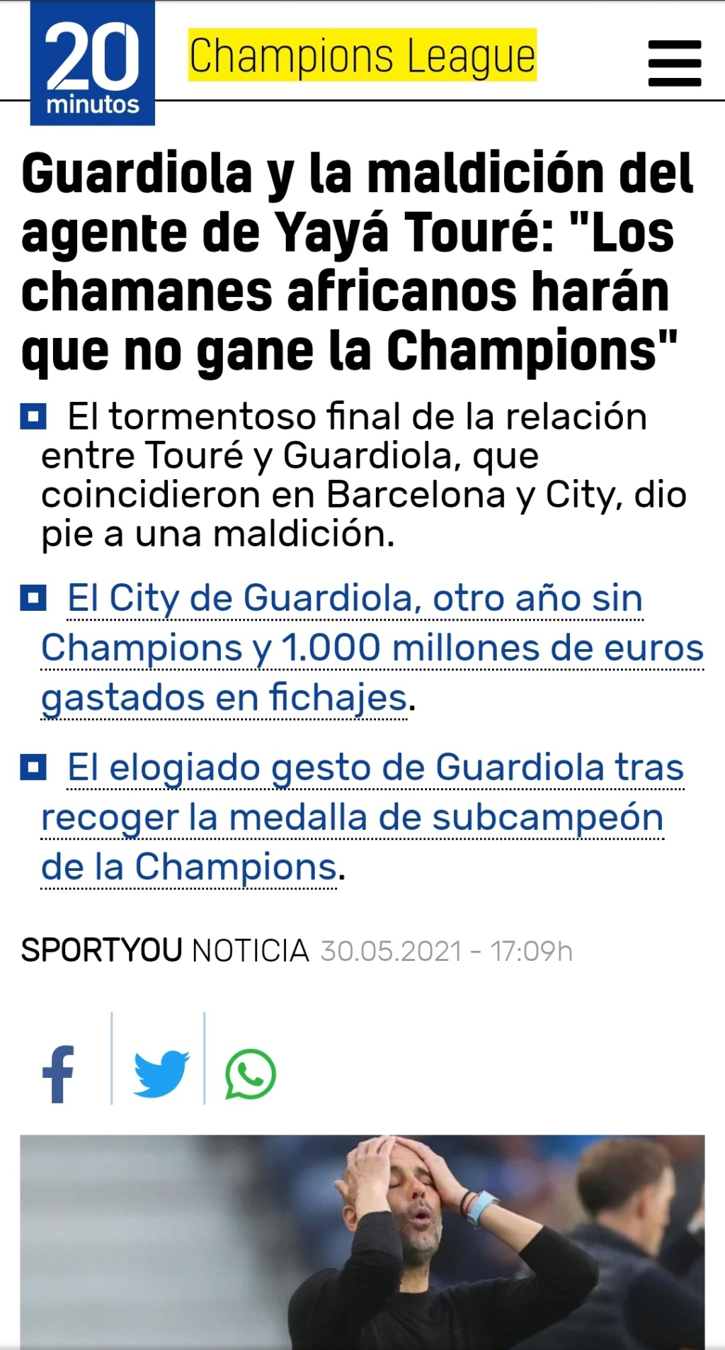 Pep Guardiola (el original, no la cover) Campeones de la Premier 2020/21!!!! Don`t look back in anger!!!!!!!!!!! - Página 14 Scree174