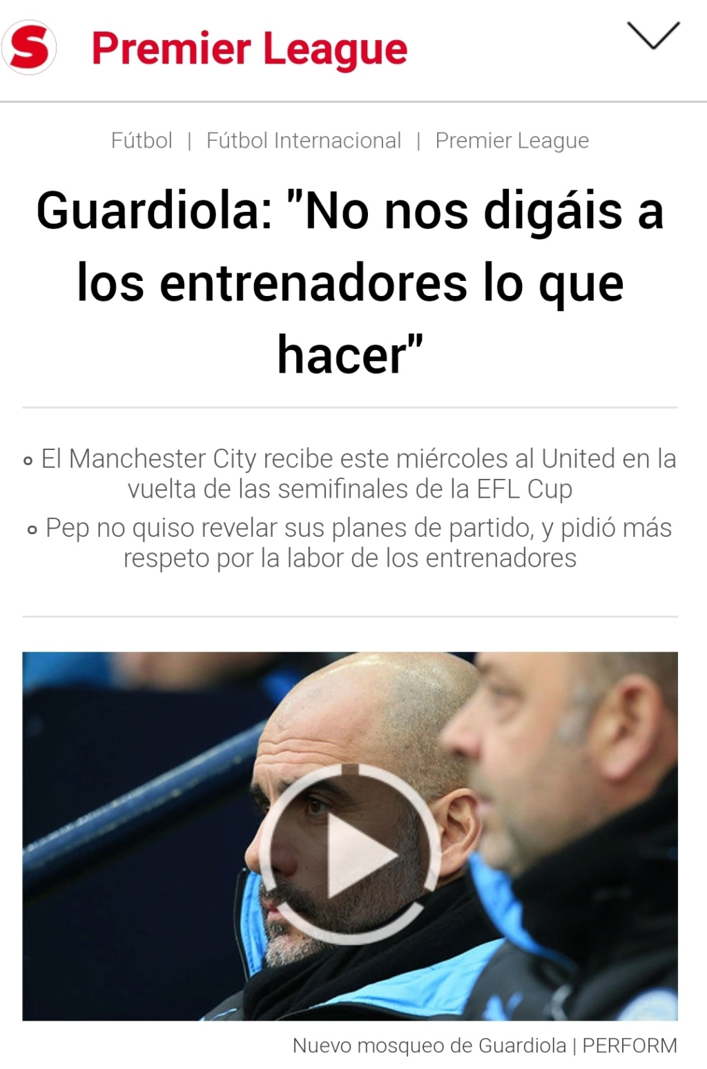 Pep Guardiola: Winter is Coming. A veintidó, veintidó, veintidó del líder de la Premier. La Premier - Página 6 Screen42