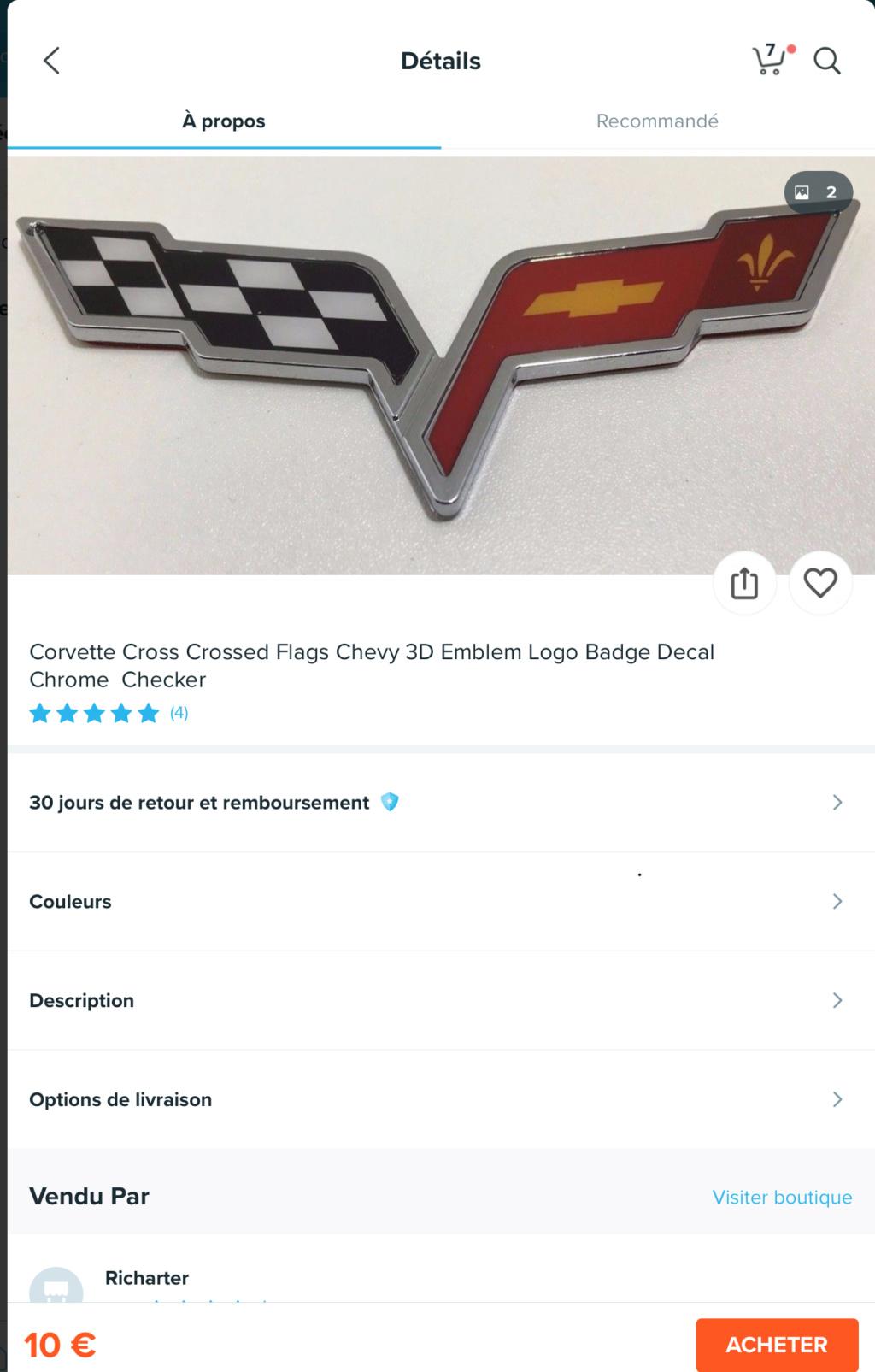 où acheter un logo de capot moteur de C6? E3161010