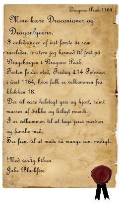 Planlægning af fest i Dragons Peak Invita13