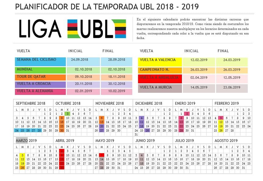 CALENDARIO ANUAL DE COMPETICIONES Calend12