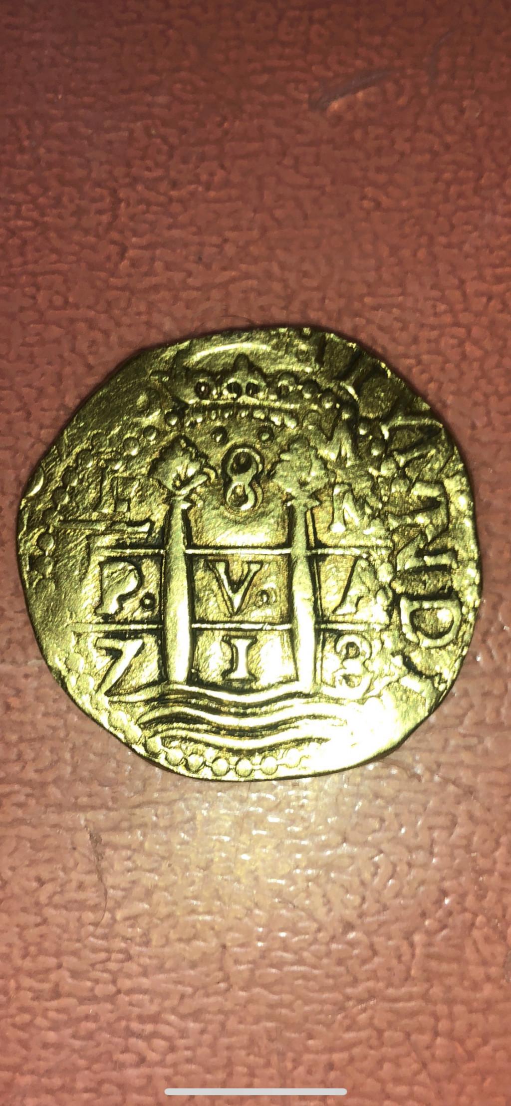8 Escudos de Felipe V de 1713, Lima. Img_9111