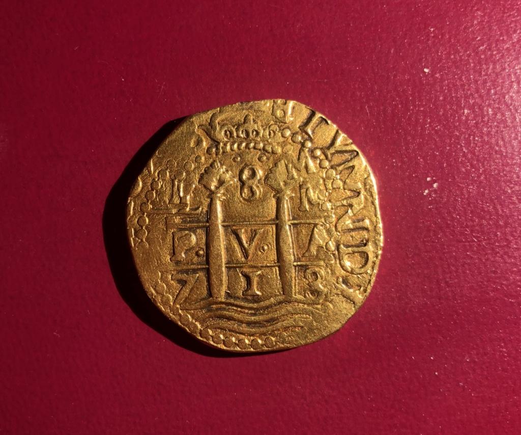 8 Escudos de Felipe V de 1713, Lima. Img_e910