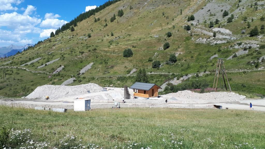 Construction du télésiège débrayable (TSD6) Montissot - Valloire 20190815