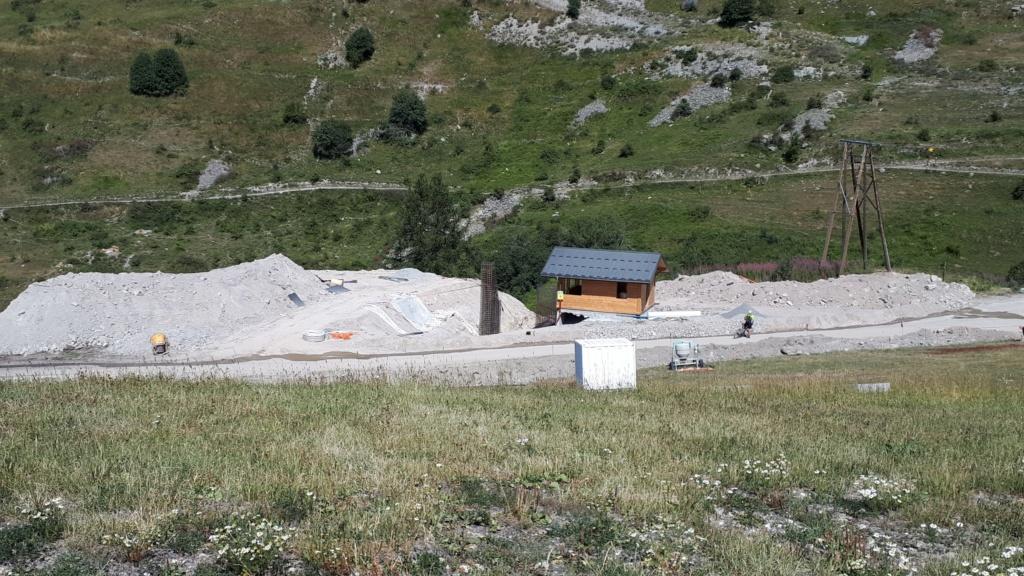Construction du télésiège débrayable (TSD6) Montissot - Valloire 20190816