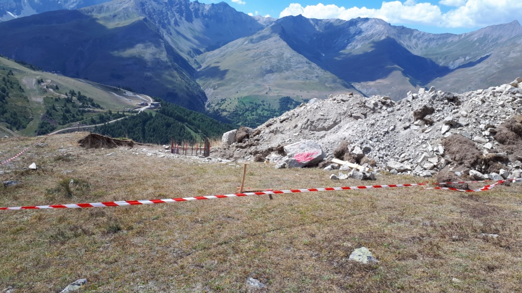Construction du télésiège débrayable (TSD6) Montissot - Valloire 20190818