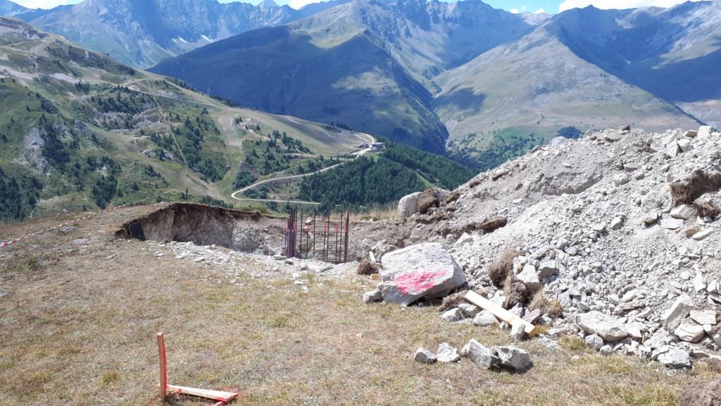 Construction du télésiège débrayable (TSD6) Montissot - Valloire 20190820