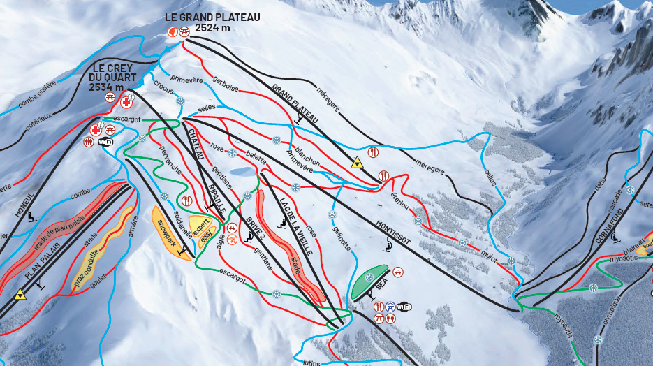 Construction du télésiège débrayable (TSD6) Montissot - Valloire Captur55
