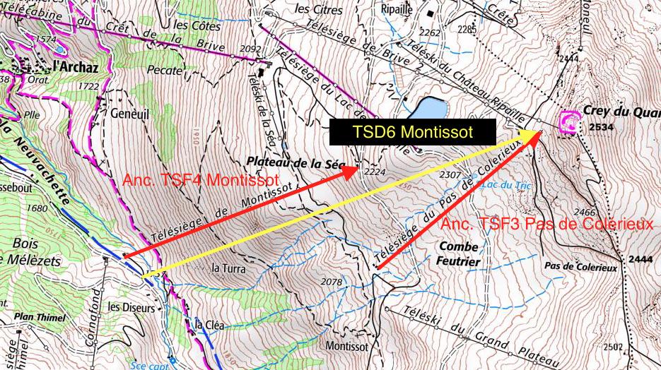 Construction du télésiège débrayable (TSD6) Montissot - Valloire Captur56