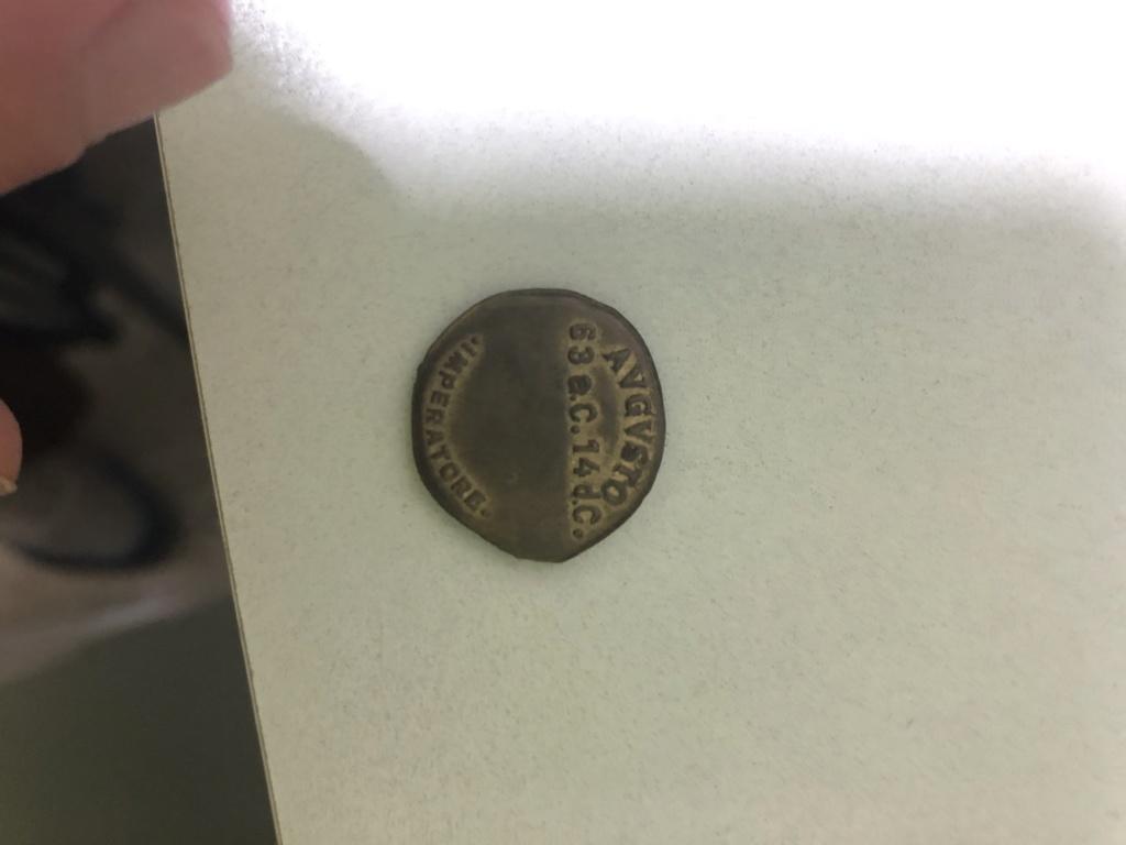 Reproducción/medalla de moneda de Augusto 8fd3e110