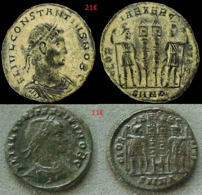 Choix entre deux monnaies identiques Choix10