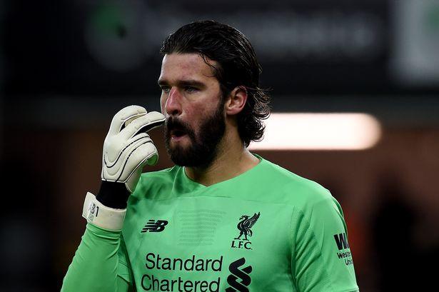 Alisson, lesionado, é o pior desfalques que o Liverpool gostaria de evitar 0_gett10