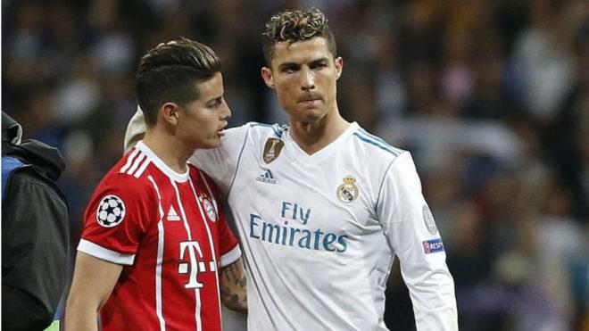 Cristiano Ronaldo tenta convencer James Rodríguez a virar reforço da Juventus 15492810